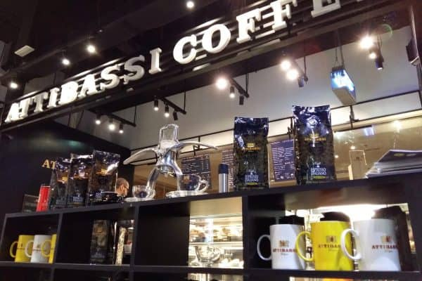 Indoor and Coffee Blends of a Licensed Attibassi Coffee Shop