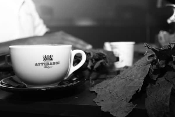 A cup of Coffee - Black and White