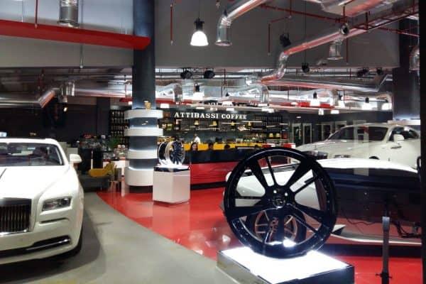 Caffetteria in Licensing Attibassi - Interno locale Dubai Mall e dettagli ambiente