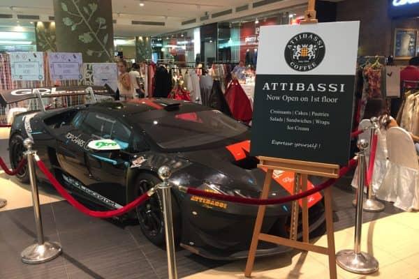Caffetteria in Licensing Attibassi a Dubai - Giorno di inaugurazione