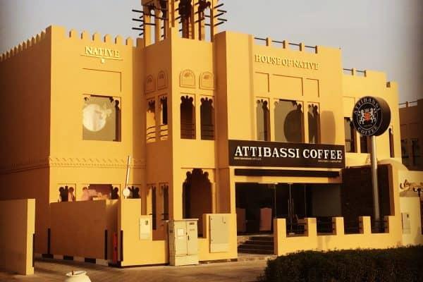 Veduta dell'esterno di un Caffè Attibassi di Dubai
