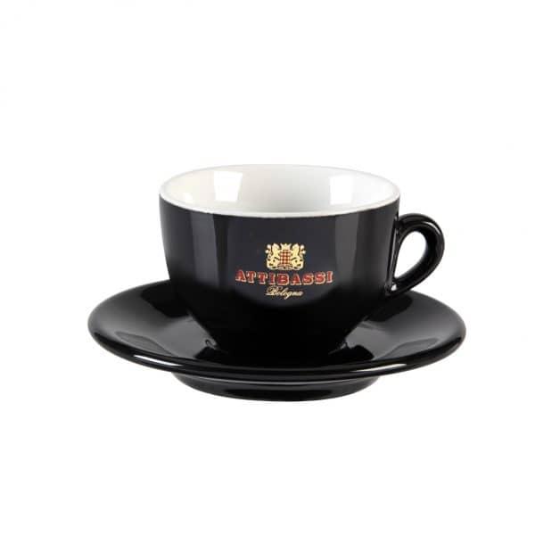 Attibassi - tazza cappuccino nera