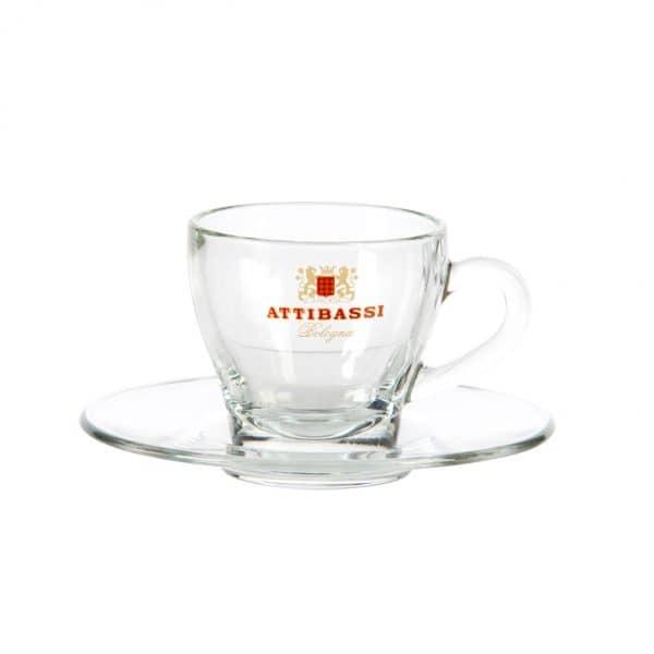 Attibassi - tazza da cappuccino in vetro
