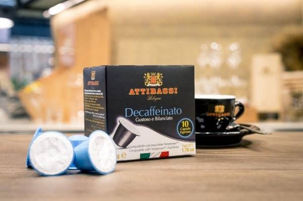 Attibassi - Capsule compatibili Nespresso - miscela Decaffeinato