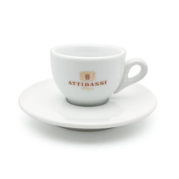 Attibassi - tazzina da caffè bianca