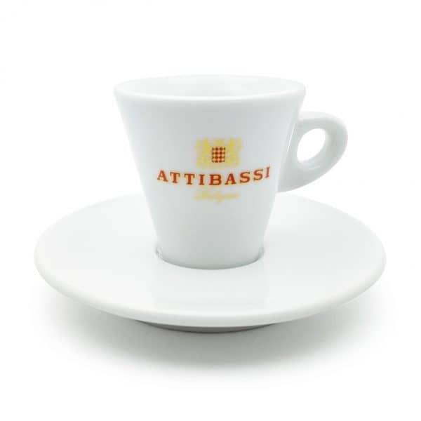 Attibassi - tazzina da caffè bianca a cono